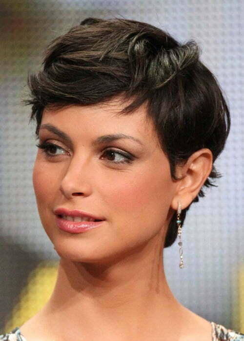 short haircut gives a unique and cute look to woman's personality