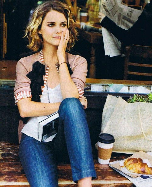 Keri Russell short curly hair images