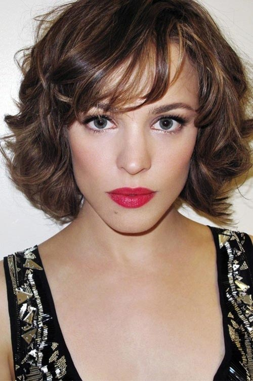 Rachel Mcadams short wavy hair