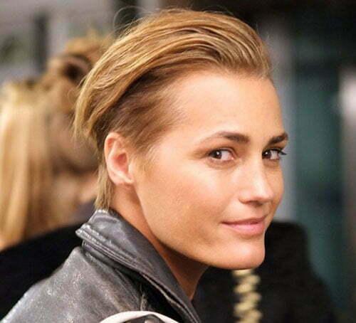 Yasmin Le Bon's undercut hairstyles