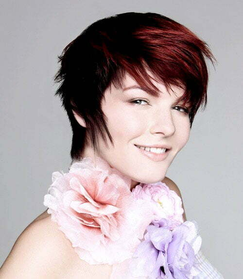 Very short asymmetrical haircuts for women