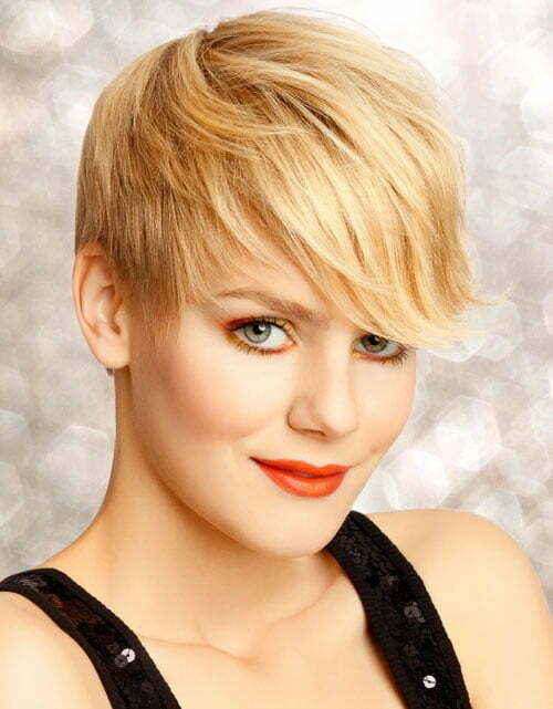 Pictures of short blonde pixie haircuts