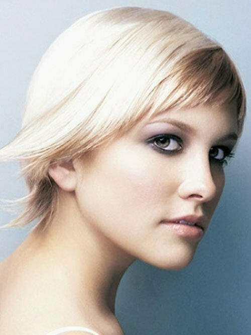 Short asymmetrical haircuts for straight hair
