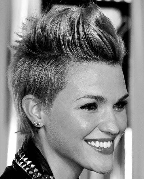 Faux hawk for women pictures