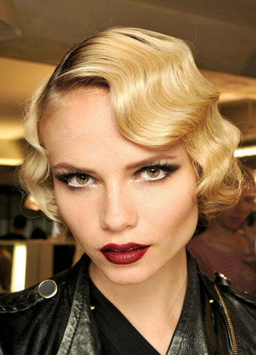 Modern finger waves hairstyle