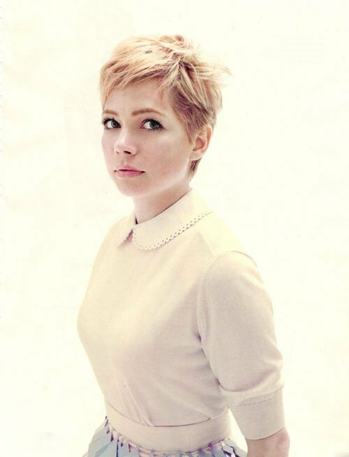 Michelle Williams Short Haircut 2013 | newhairstylesformen2014.com