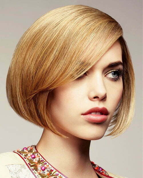 Modern short straight haircuts for women
