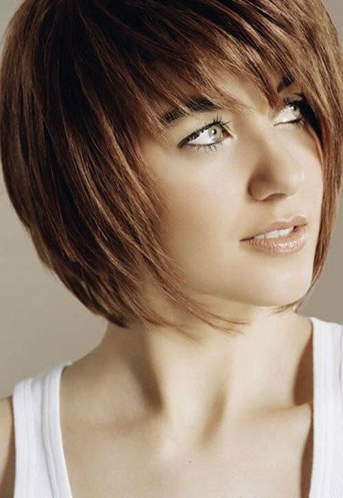 Modern hairstyles for short straight hair