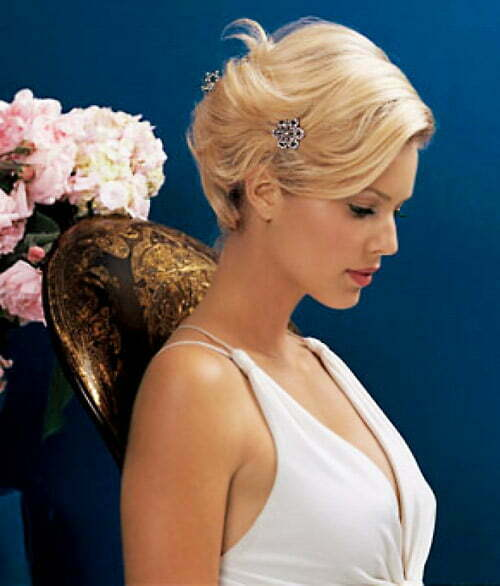 25 best wedding hairstyles for short hair 2012 2013 short this junglespirit Gallery
