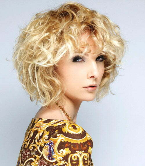 Blonde curly hairstyles for women