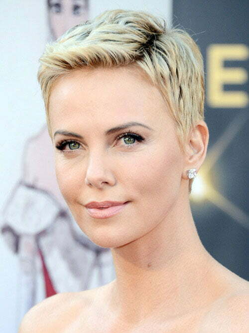 Charlize Theron pixie haircut 2013