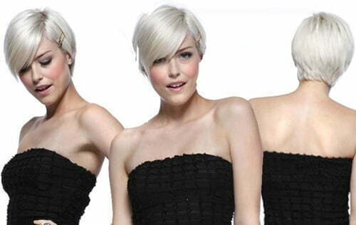 Short pixie hairstyles with bangs