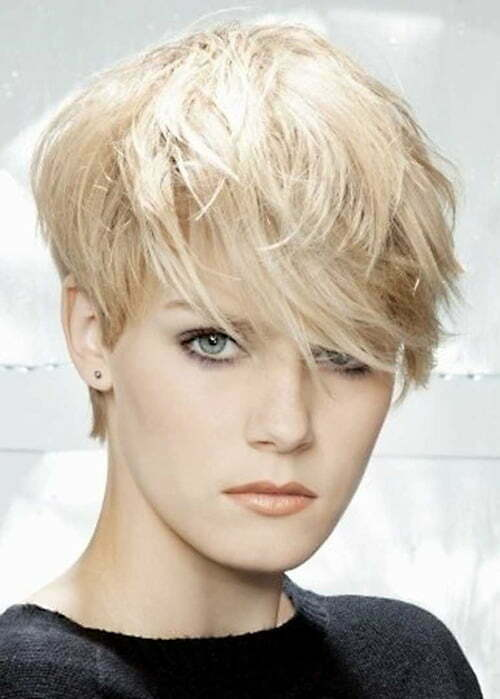 Pixie very short layered haircuts women