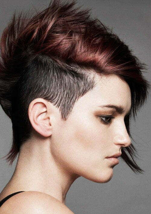Short punk hair color ideas for girls