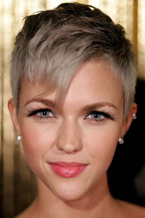 Ruby Rose short pixie hairstyle