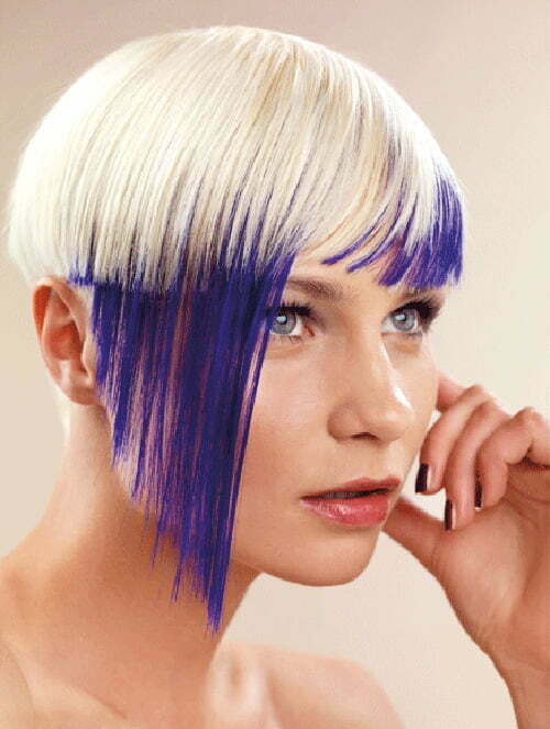 Short blonde and blue hair ideas