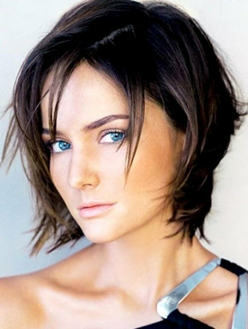 Short choppy layered haircuts pictures
