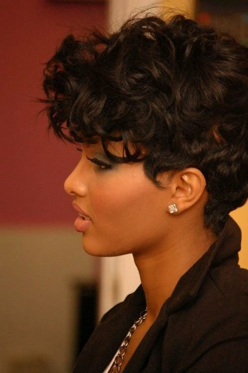 Short Hairstyles for Black Women Curly Hair