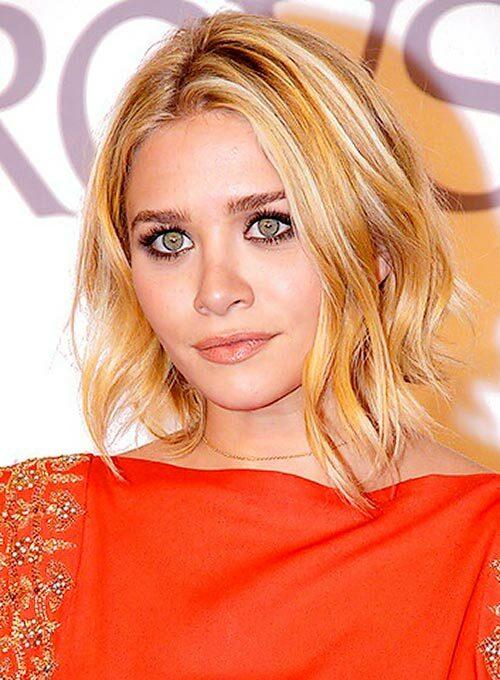Ashley Olsen short curly haircut