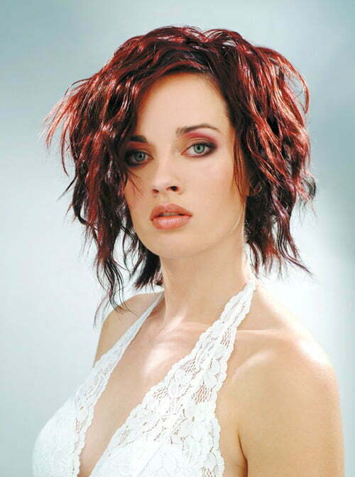 Short hairstyles for curly hair women 2013