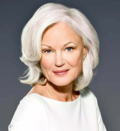 Short hair styles for women over 60 with white hair