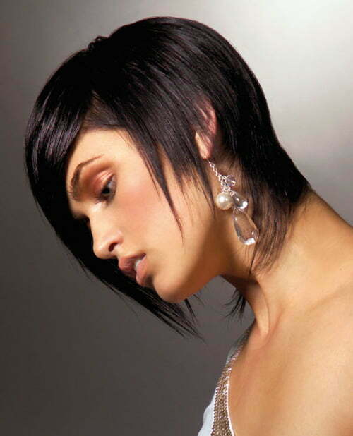 Short hairstyles dark hair asian