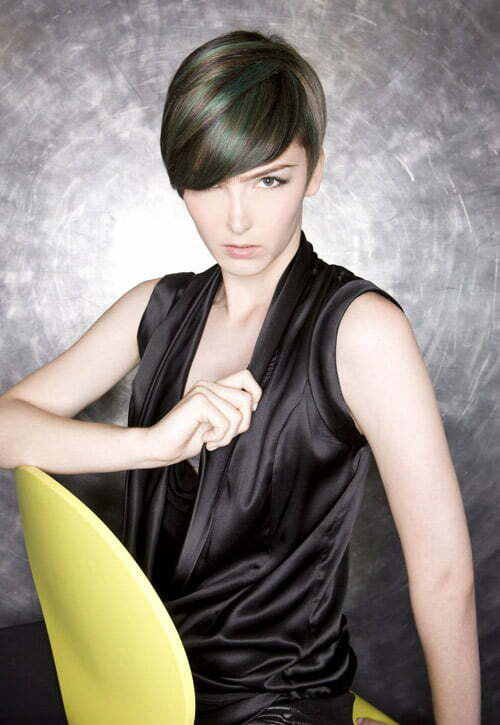 Trendy short haircuts for women 2012