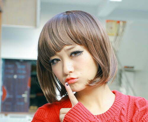 Short straight hairstyles for asian women