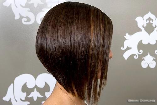 Short Inverted Bob Hairstyle Back