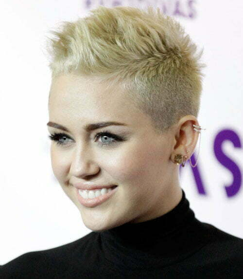 Miley Cyrus pixie mohawk haircuts