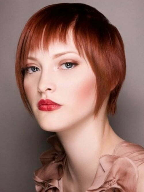 Short red bob hairstyles for women