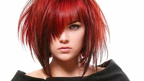 Short red hairstyles for 2013