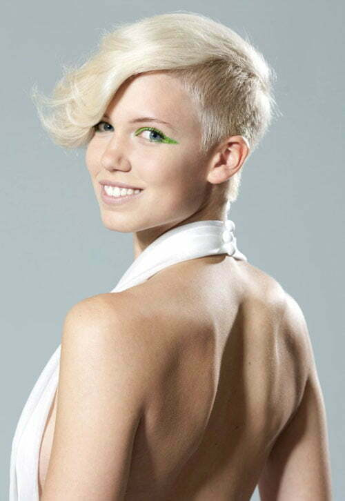 Short side shaved hairstyles for women