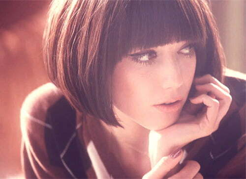 Short straight cut hairstyles for women