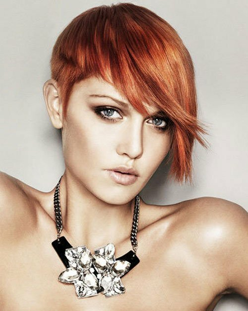 Hairstyles for short straight red hair
