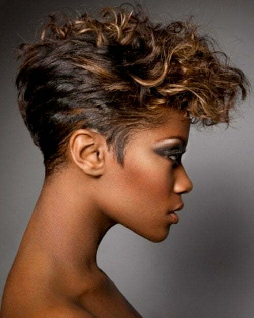 Short wavy hairstyles for black women 2013