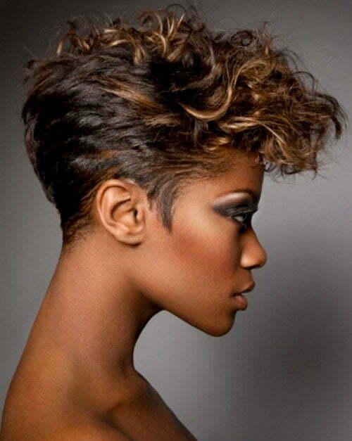 Short wavy hairstyles for black women 2013
