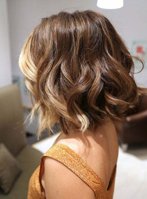 Short wavy ombre hair pictures