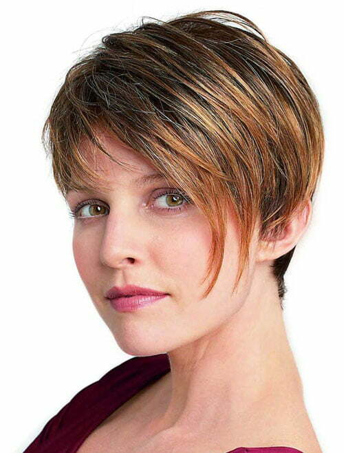 Short haircuts for straight hair with bangs