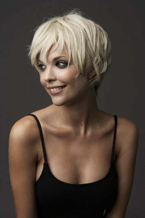 Pleasant Short Blonde Haircuts Short Hairstyles 2016 2017 Most Hairstyles For Women Draintrainus