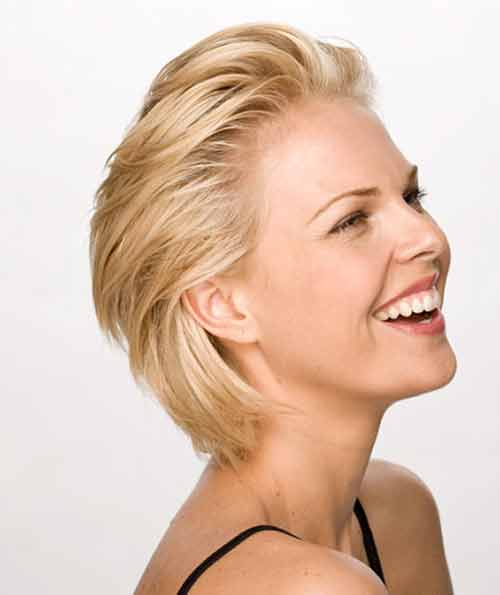 Swept Back short hairstyles for women