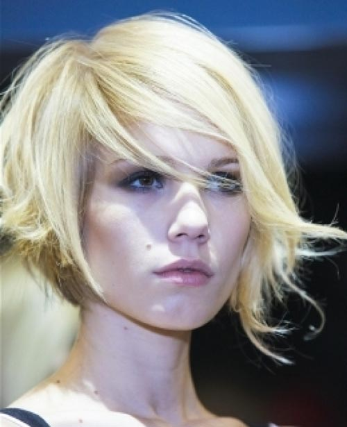 Asymmetrical hairstyles for short hair
