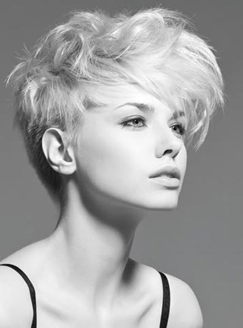 Short crop hairstyles for round faces