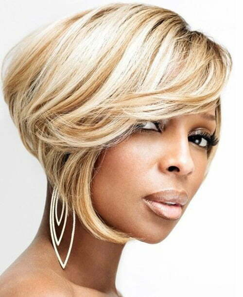 Mary J. Blige Hairstyles Short Hair