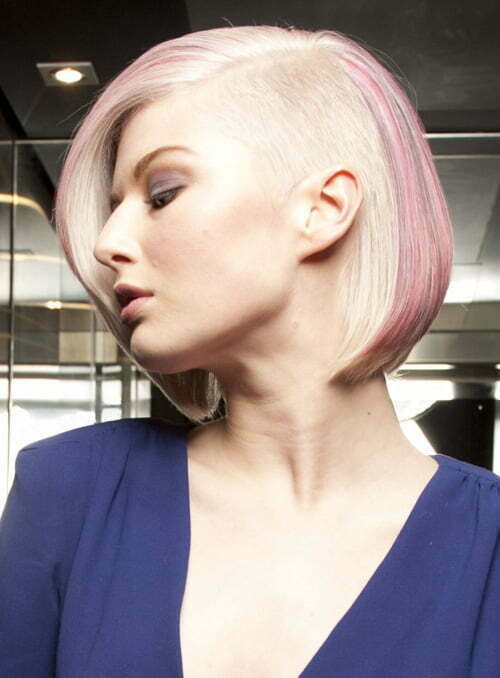 Undercut bob hairstyle women
