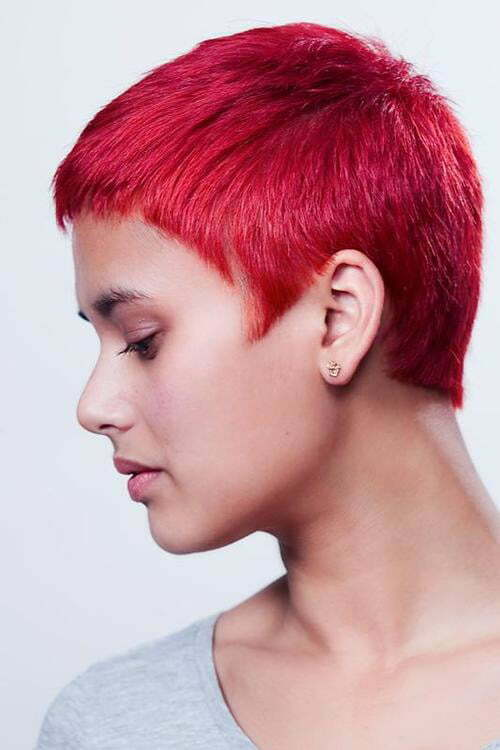 Very short red hairstyles for women