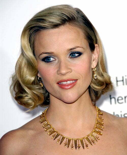 Reese Witherspoon short wavy hair images