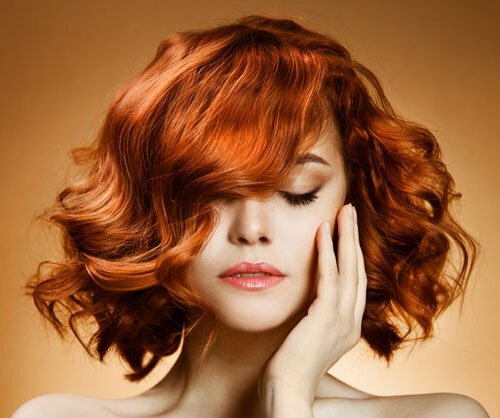 Short hairstyles for women red hair