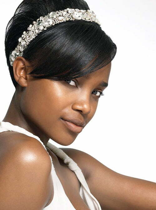 Wedding hairstyles for short hair for black women