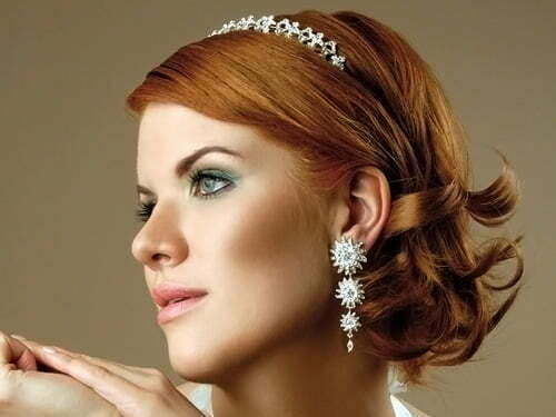 Wedding hairstyles for short curly hair 2013